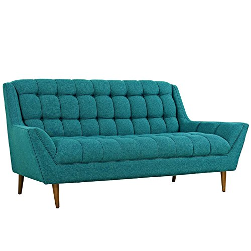 Modway Response Mid-Century Modern Loveseat Upholstered Fabr
