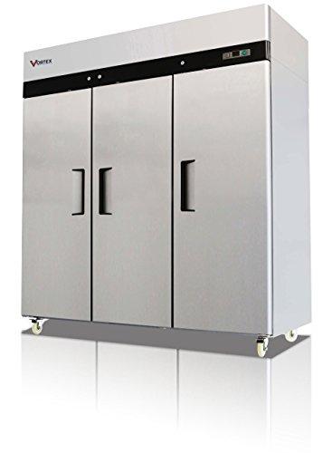 Vortex Refrigeration Commercial 3 Solid Door Freezer - 72 Cu. Ft. by Vortex Refrigeration Company