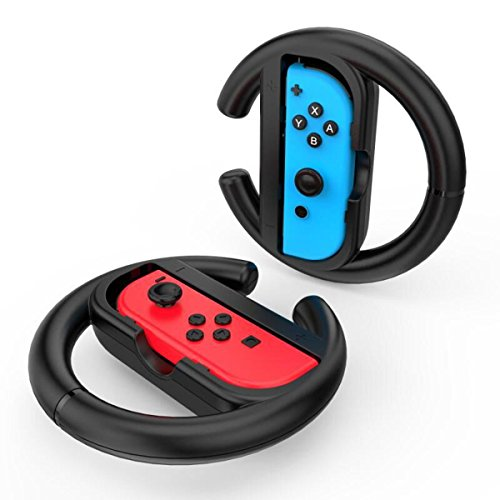 GameWill JoyCon Steering Wheel for Nintendo Switch Controller, (Set of 2)
