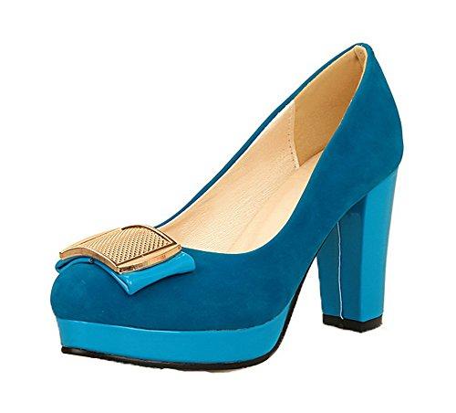 Pull toe kierroksella Korkokenkiä Sininen Naisten Solid kengät Weenfashion Pumput 5wqxA1tgt