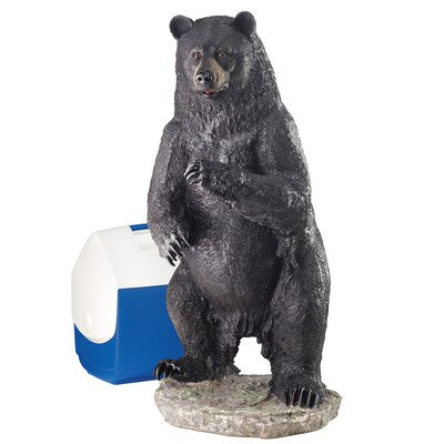 Design Toscano Fishing for Trouble Bear Statue Size: Large