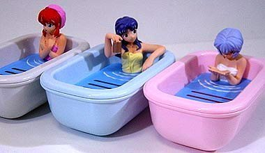 Sega Evangelion soap dish all three