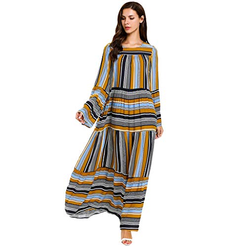 Womens Long Kaftan Flowy Casual Abaya Summer Evening Gown Maxi Dress Muslim Women Modest Maxi Dress Kaftan Clothing