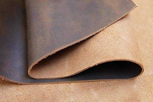 Yellow Brown Genuine Leather Square 1.8-2.0mm 12''x32'' by Jeereal (Image #4)