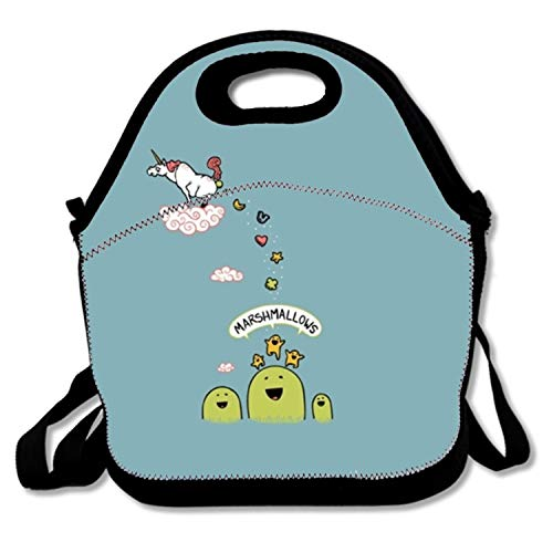 Unicorn And Marshmallows Personalized Lunch Bag Insulated Tote Cooler Bag for Women and Men