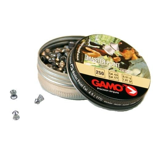 Gamo 6320424BL54 Master Point Pellets .177 Caliber Tin of (Point Tin)