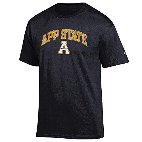 (Elite Fan Appalachian State Mountaineers Men's Short Sleeve Arch Tee, Black, X Large )