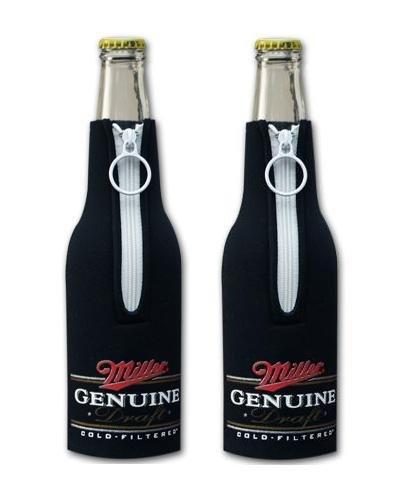 - Miller Genuine Draft MGD Beer Bottle Suit Holder Cooler Kaddy Huggie Coolie Set of 2