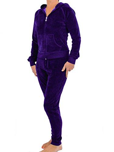 Velours Avec Love Lola® De En Pour Pantalon Violet Capuche D'un Sport Créateur Combinaison Jogging Inspirée Tenue Femme trackisback qIwtznBqd