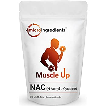 Micro Ingredients Pure N-Acetyl L-Cysteine (NAC) Powder - Maintain Liver & Lung Cellular Health (250 grams / 8.8 oz)