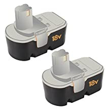 2Packs 18V 2.0Ah Replacement Battery for Ryobi Tools ONE+ ABP1801 ABP1803 ABP1801 Cordless Drill