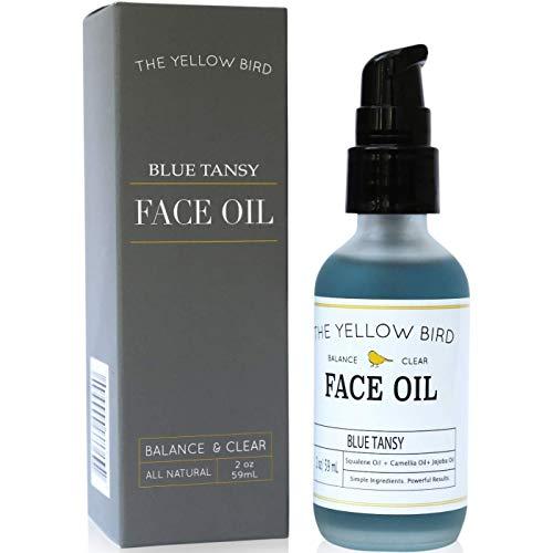 Balancing Blue Tansy Face Oil  Skin Brightening Serum. Anti Aging Collagen Support. Acne Fighting Dark Spot Corrector. Wrinkle & Pore Minimizer. Natural, Vegan Facial Moisturizer.