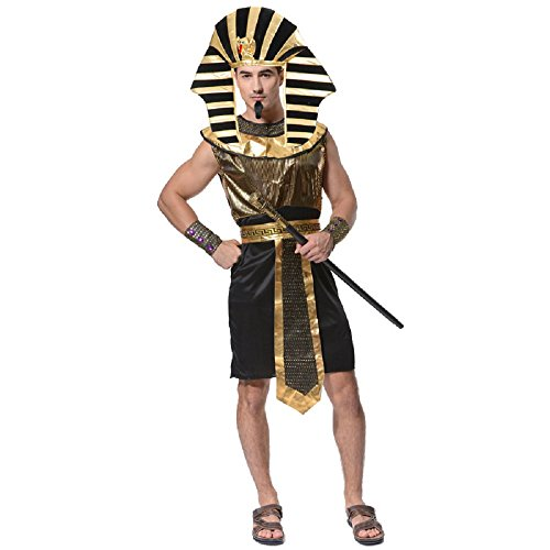 Halloween Costumes for Men Egyptian Pharaoh Costume King of Egypt Adult Size(Pharaoh)