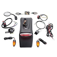 The Tusk Motorcycle Enduro Lighting Kit is designed to be a simple way to provide front and rear turn signals, tail/brake lights, horn, and rearview mirror for your motorcycle. The Tusk Motorcycle Enduro Lighting Kit is easy to install and do...