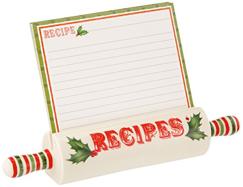 Lenox Home for The Holidays Recipe Holder with 10 Cards, ...