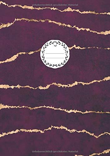 NOTIZBUCH A4 BLANKO: 110 Seiten Leer | Journal zum Gestalten Zeichenbuch Skizzenbuch Notizheft Blankobuch Malbuch | Weißes Papier | Soft Cover Gebunden | Edel Purpur