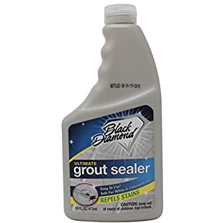 Black Diamond Stoneworks Ultimate Grout Sealer Seals Out Stains Use On all Grout Types For Tile, Marble, Floors, Showers, Countertops. Pint