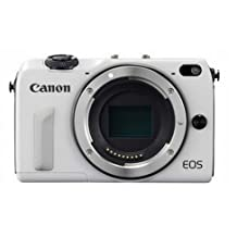 Canon EOS M2 Mark II 18.0 MP Digital Camera (White) Body Only - International Version (No Warranty)
