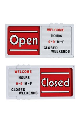 Closed Message Board - Red Horizontal Sliding Open/closed Sign Board.• 20