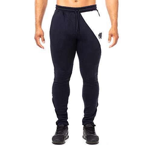 Blau weiß Pantaloni Slim Fit Uomo Sportivi Smilodox Jogginghose ZxFY4Pnnq