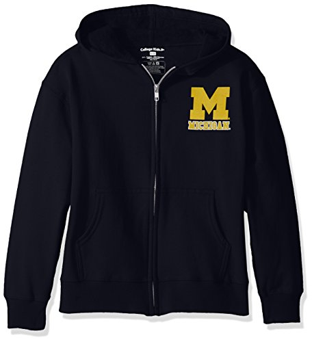 College Kids NCAA Michigan Wolverines Youth Zip Hoodie, Size 8-10 /Small, Navy