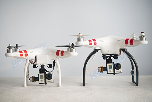 SummitLink Black Tall Extended Landing Gear for DJI Phantom 1 2 Vision Wide and High