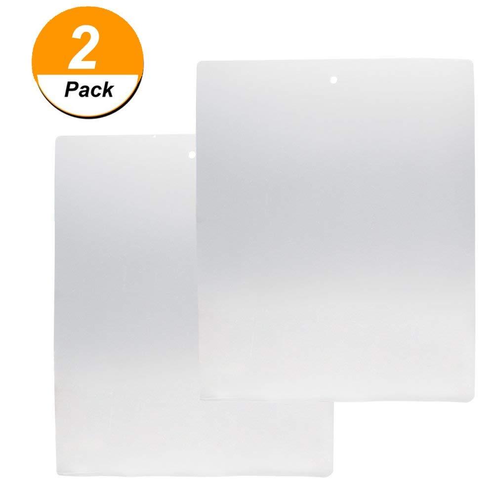 Genenic Thin Clear Flexible Plastic Cutting Board Chopping Mat,(2 Pack,12 x 15) 12 x 15)