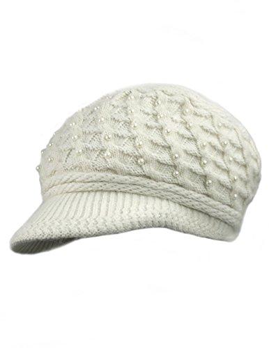 Dahlia Women's Chic Flower Wool Blend Newsboy Hat