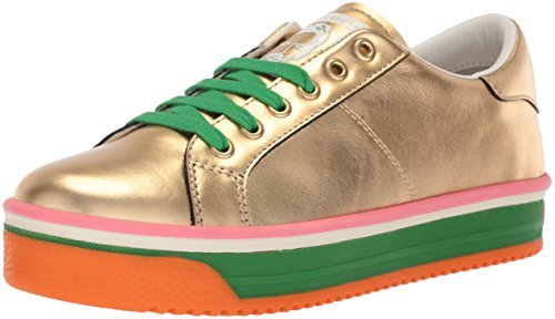 (Marc Jacobs Women's Empire Multi Color Sole Sneaker, Gold/Green, 35 M EU (5 US))
