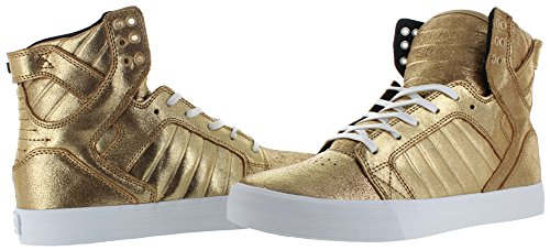 Sneaker Gold Supra S18091 Black uomo White Skytop aqw7xwC4E