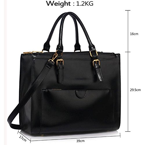 Style Xardi Handbags 2 Work Black Ladies Shoulder Women Bags Leather Travel Style College Large New London IqwrZ7I
