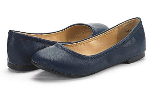 Paires De Rêve Semelle Femme Heureuse Ballerine Chaussures De Marche Chaussures Marine