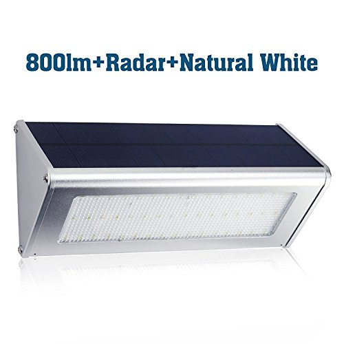 Solar Power Motion Sensor 182 LED and 180 Degree Triple Lamp Security Light