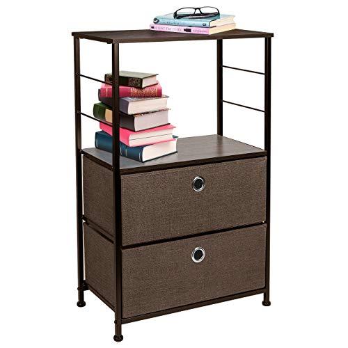 Sorbus Nightstand 2-Drawer Shelf