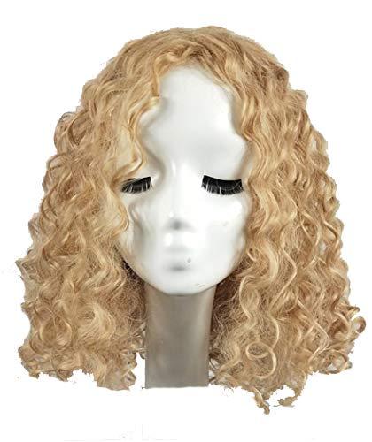 XXSPU Peluca adulta peluca dama peluca moda peluca pelo rizado ...