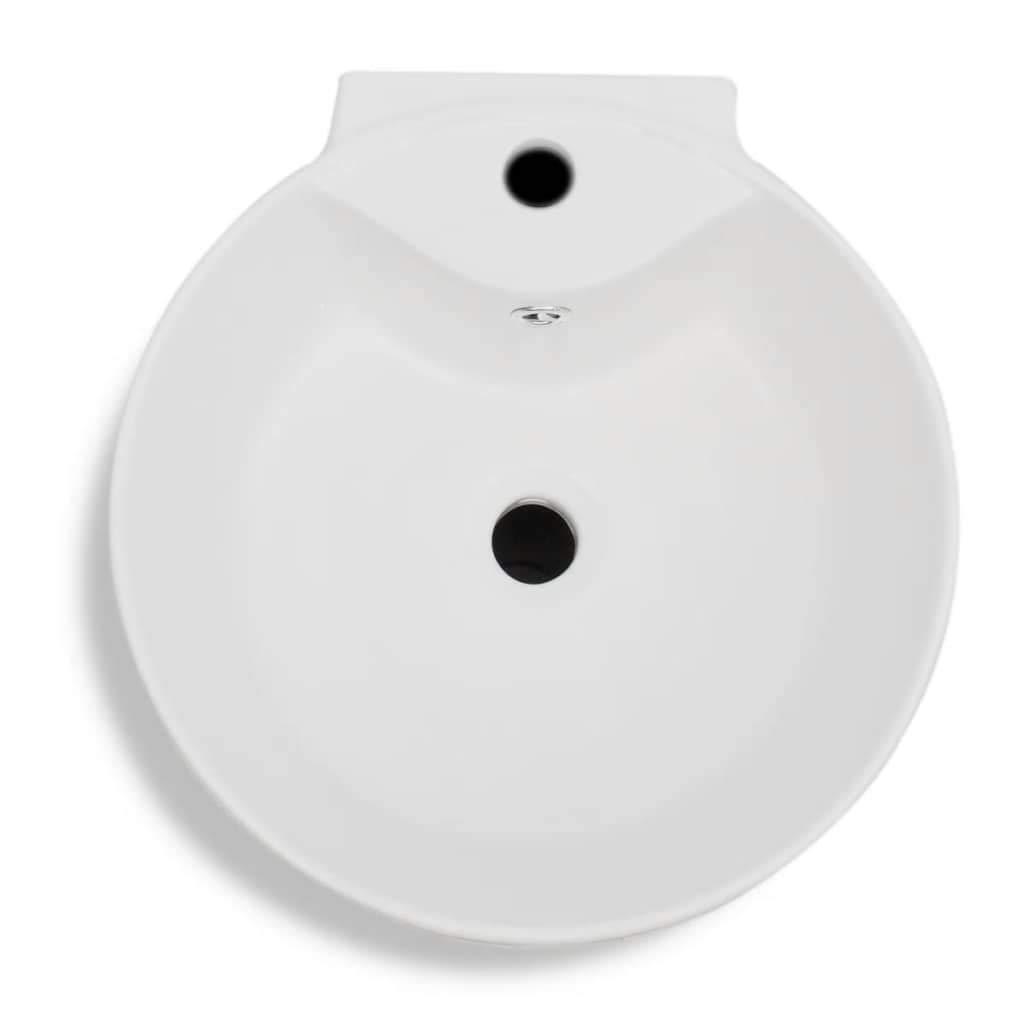 Daonanba Lavabo Debout Vasque en c/éramique de la Salle de Bain