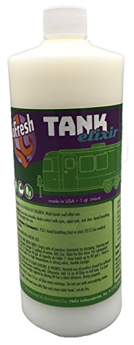 BioFresh Tank Elixir - RV & Marine Holding Tank Treatment eliminates Clogs and Odors, Eco-Friendly Microbes digest Waste and all Toilet Paper Brands. Black & Grey water tank cleaner. 32 (Rv Wastewater Tanks)