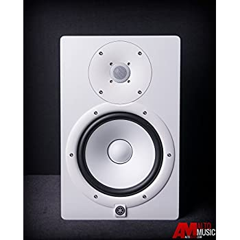yamaha hs8 w 8 inch powered studio monitor white home audio theater. Black Bedroom Furniture Sets. Home Design Ideas
