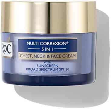 RoC Multi Correxion 5 in 1 Anti-Aging Chest, Neck and Face Cream with SPF 30, Moisturizing Cream Made with Vitamin E, 1.7 oz