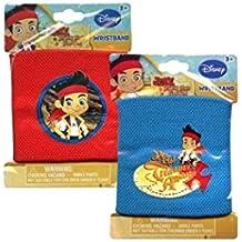 Jake and the Neverland Pirates Knit Wristband X 2 ( 1 Blue 1 Red )