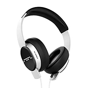 """SOL REPUBLIC Master Tracks X3 Over-Ear Headphones – Noise Isolation, Club Like Sound,  Mic + Music & Siri Control, 1/4"""" Adapter, Virtually Indestructible, 1601-32 White"""