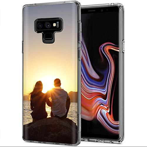 TalkingCase Custom,Personalized Phone Cover for Samsung Galaxy Note 9, Clear Premium Thin Gel TPU Phone Cover,Ultra Flexible Slim TPU,Your Image Here Your Picture Here,Designed and Printed in USA