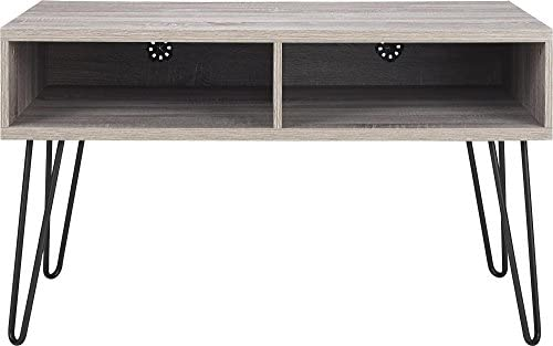 Ameriwood Home Owen Retro TV Stand for TVs up to 42 , Weathered Oak