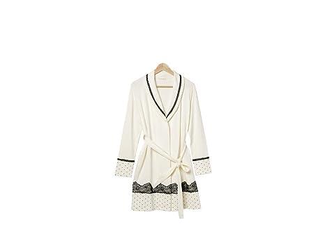 Damen Luxus weich kuscheln Langarm Bath Robe Bademantel