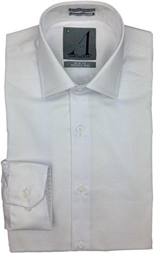 ALVISO Boys White Long Sleeve SLIM FIT Dress Shirt - T601-BOBS - White, 12 Slim by Alviso