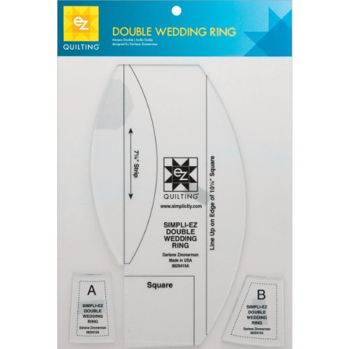 Double Wedding Ring Template-3 Pieces (Template Double Ring Wedding)