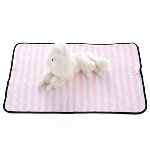 IEason Pet Mats, Hot Sale! Warm Pet Mats Dog Cats Stripes Soft Blankets Comfortable Mats Blanket (Same Size, (Basic White Girl Cat Costume)