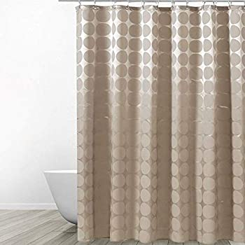 Ufatansy Uforme Home Fashion Geometric Shower Curtain X Long Fabric Bathroom Waterproof And Anti Mildews With Lead Weight Mocha 72 Inch By 78