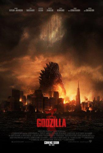 1 X Godzilla (2014) 12X18 Movies Poster (THICK) - Aaron Taylor-Johnson, Elizabeth Olsen, Bryan - Mall Cranston