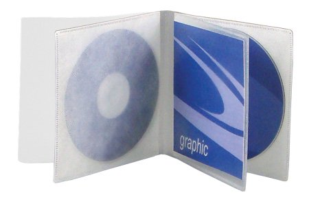 - Univenture Two (2) Disc Multi-Viewpak with Safety-Sleeve - Pack of 25 - Disc Sleeve Works Great to Organize Large CD or DVD Collections